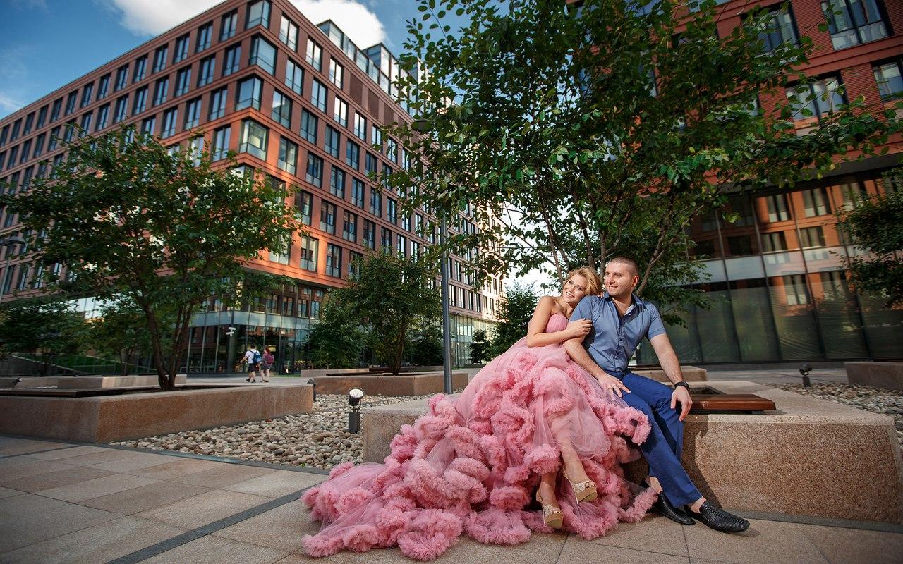 Фотосессия на улице с мужем