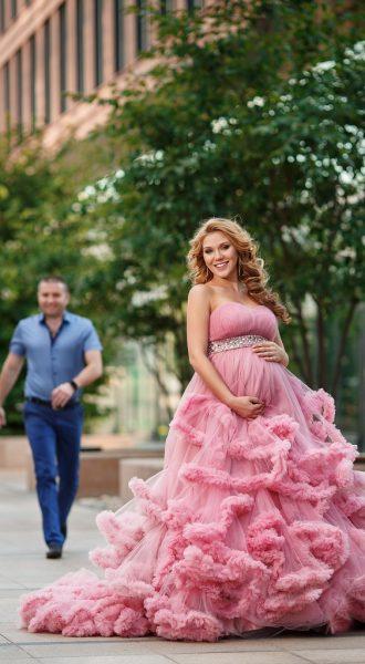 Фотосессия беременности на улице с мужем