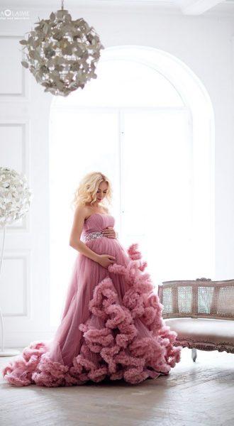 Фотосессия беременности в платье