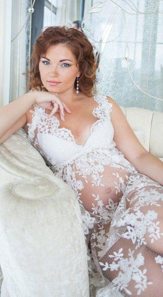 Платье для фотосессии беременности Catherine White