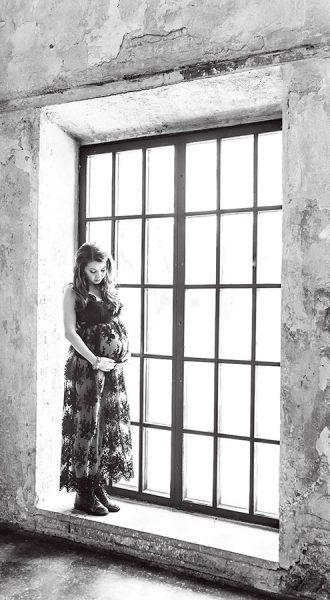 Чёрный пеньюар для беременных