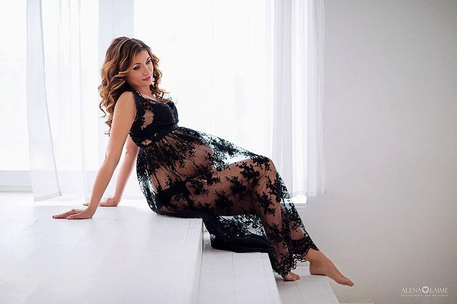 Кружевное платье для фотосессии беременности