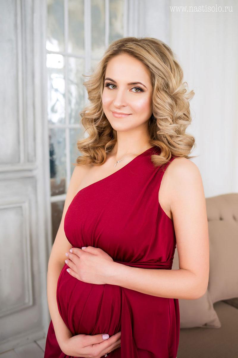 Платье для беременных ассиметричного кроя