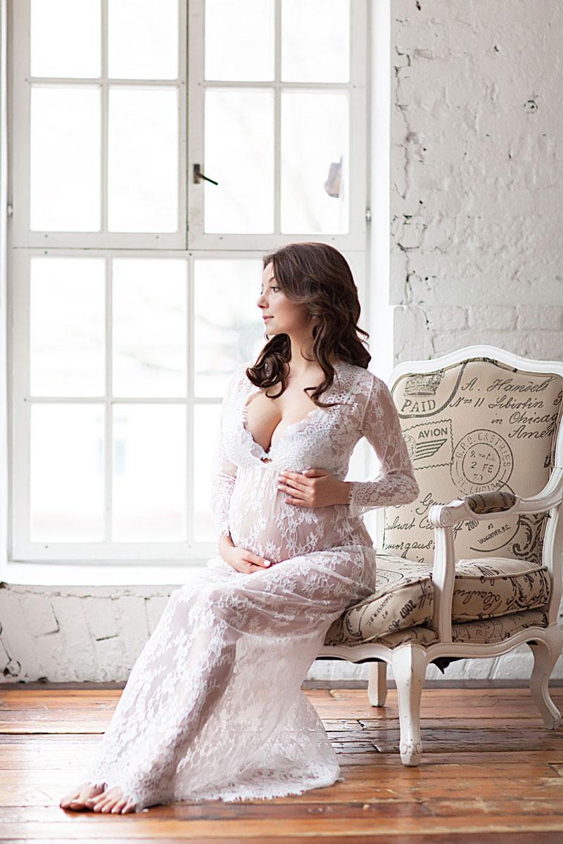 Пеньюар «Диана» для фото беременности в стиле ню