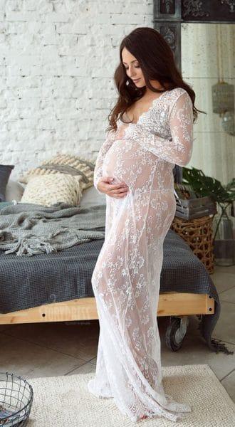 Пеньюар для фотосессии беременных Diana White