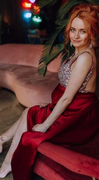 Бордовое платье для беременных Ellie Bordeaux