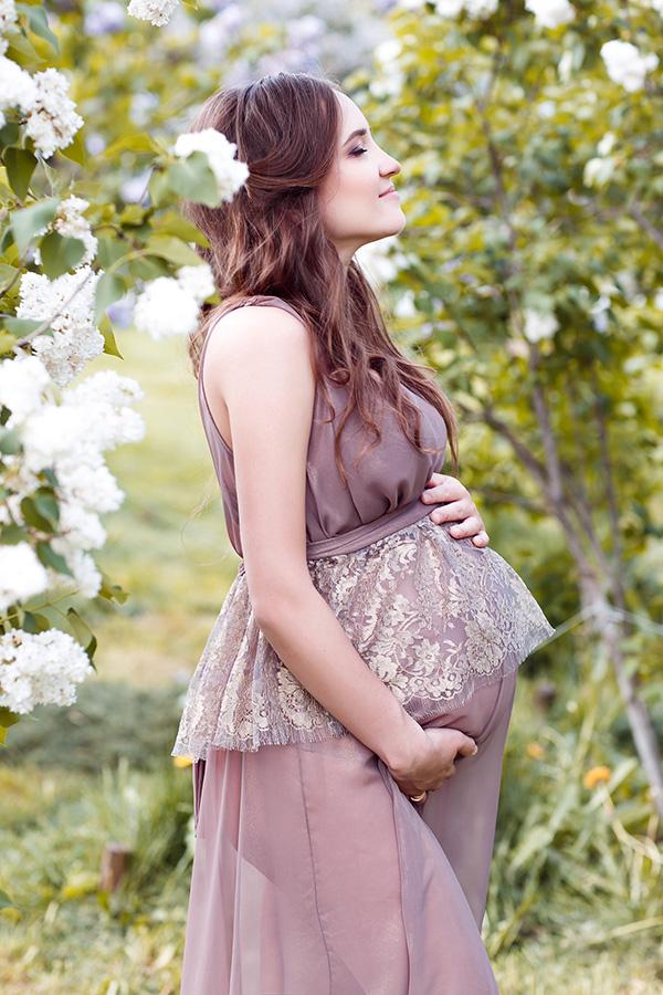 Необычное платье для беременных напрокат