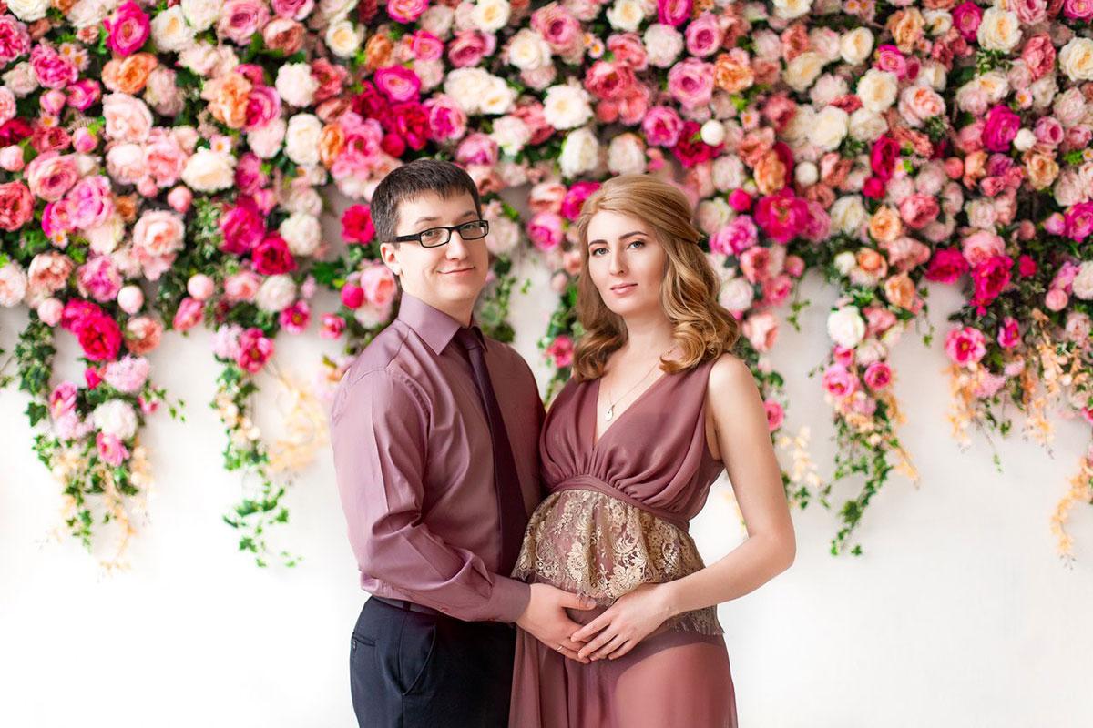 Платье для фотосета беременной с мужем