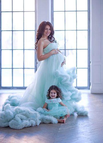 Фотосессия с дочкой в пушистом платье