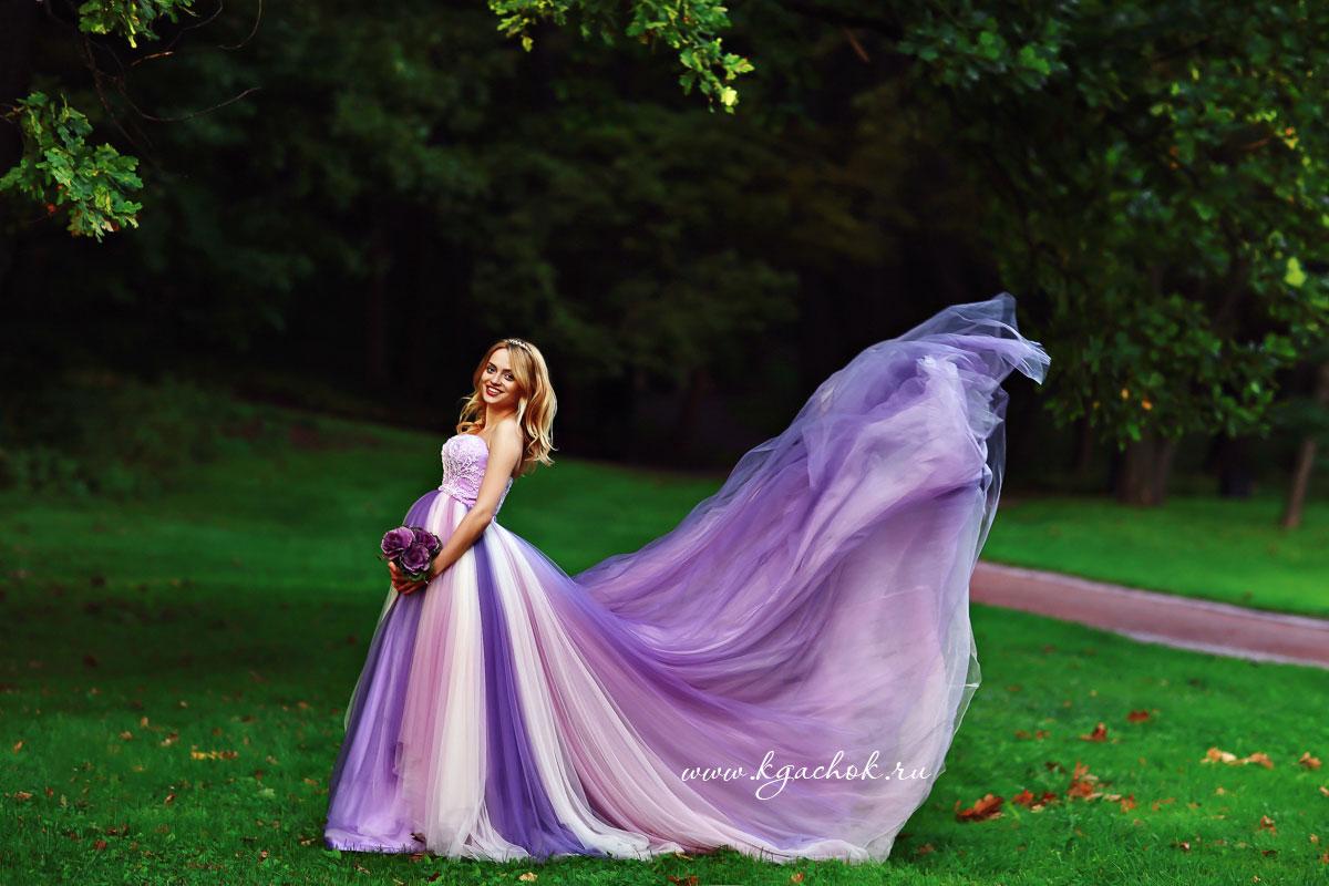 Беременность в пышном платье фото
