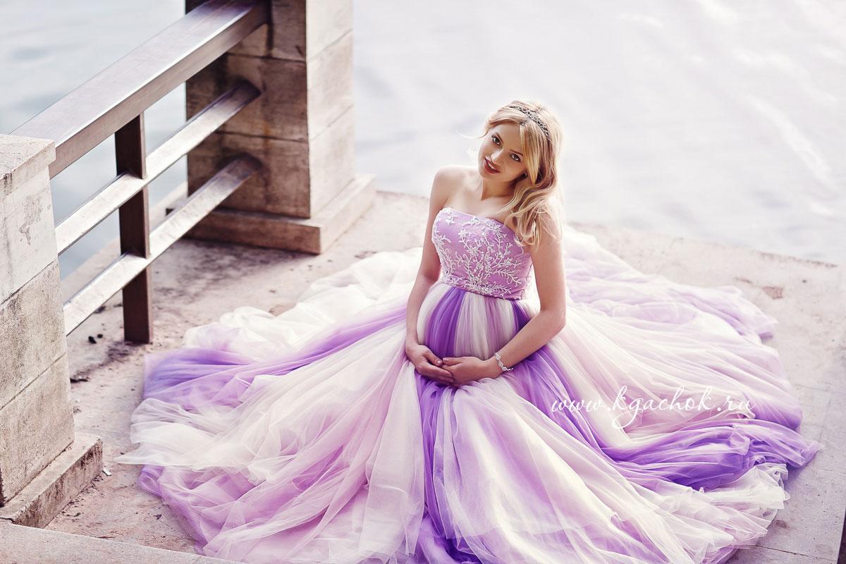 Пышное платье для беременной