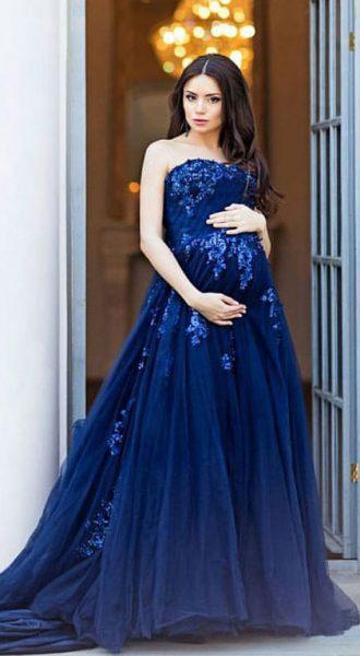 Пышное платье для беременных Storm Sky