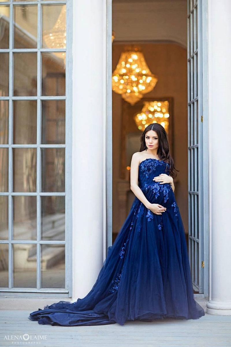 Фото беременности в платье