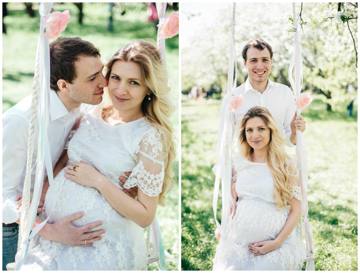 Фотосессия беременности с мужем в ожидании малыша