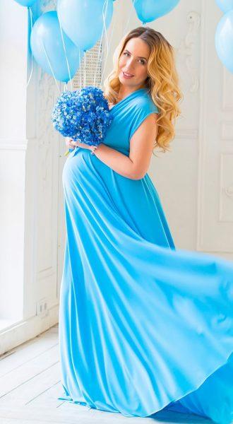 Нежно-голубое платье-трансформер Soft Blue Transformer