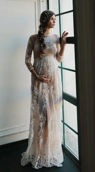 Прозрачное платье для беременных Lika