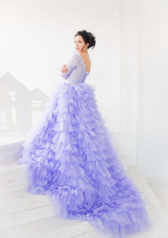 Пышное платье Blueberries & Milk напрокат в Минске