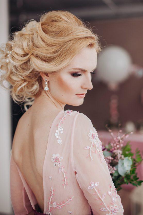Сказочный фотосет нежной невесты в бледно-розовом платье