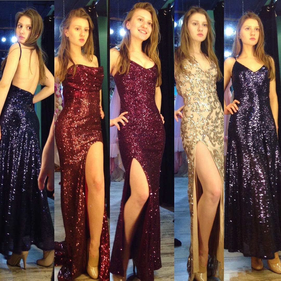 Дарья Котельникова выбирает платье для отборочного этапа