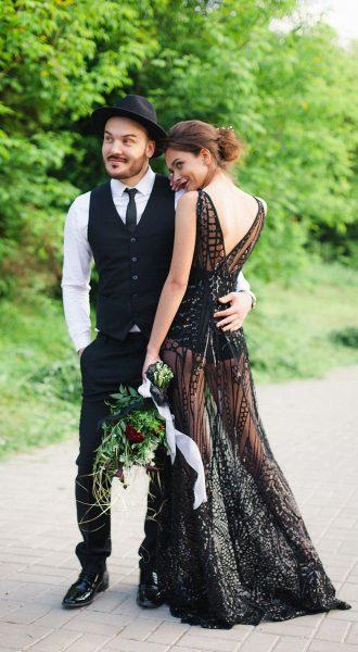 Экстравагантная фотосессия в лесу с мужем
