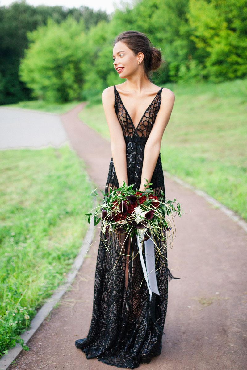 Чёрное платье для фотосессии Naomi Black