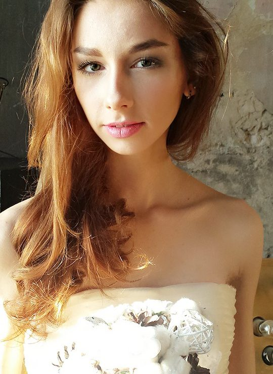 Натали Лис в свадебном платье