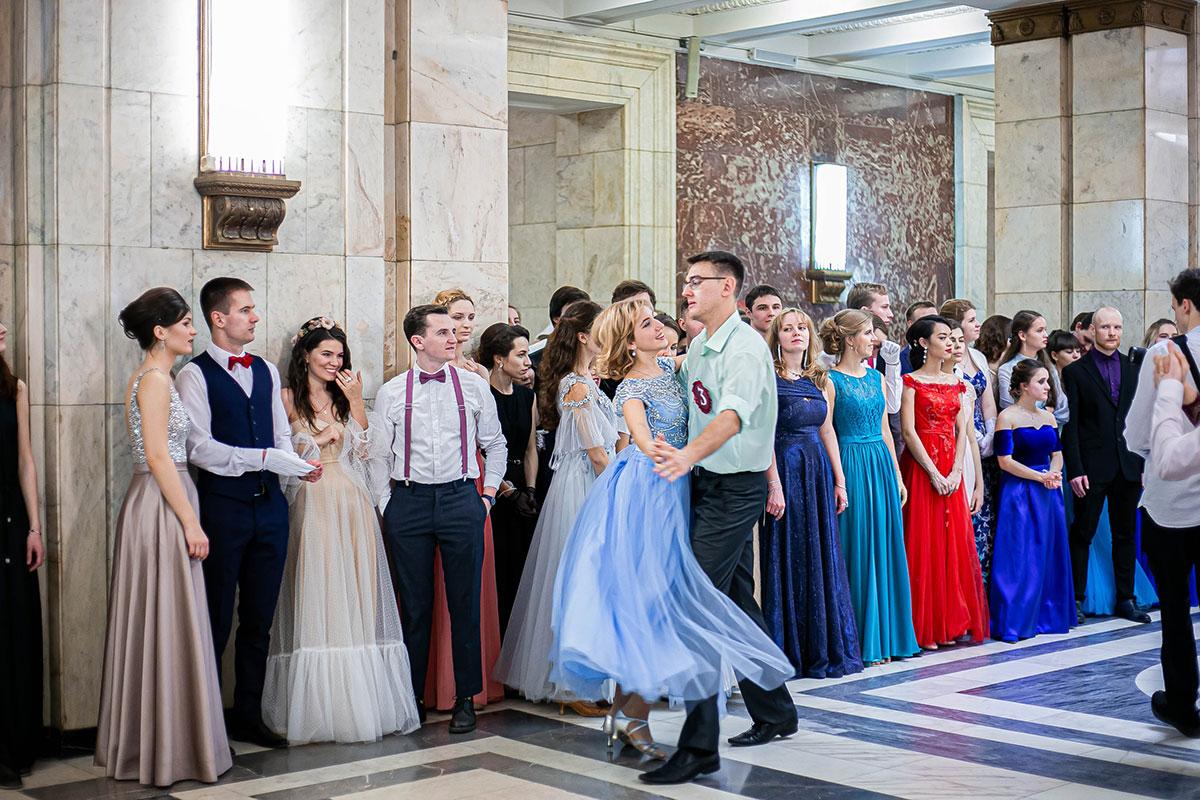 Конкурсный танец на балу МГУ