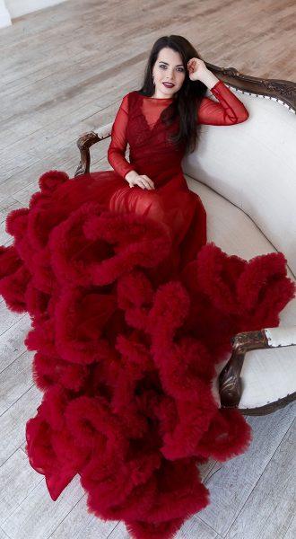 Платье-облако фантом