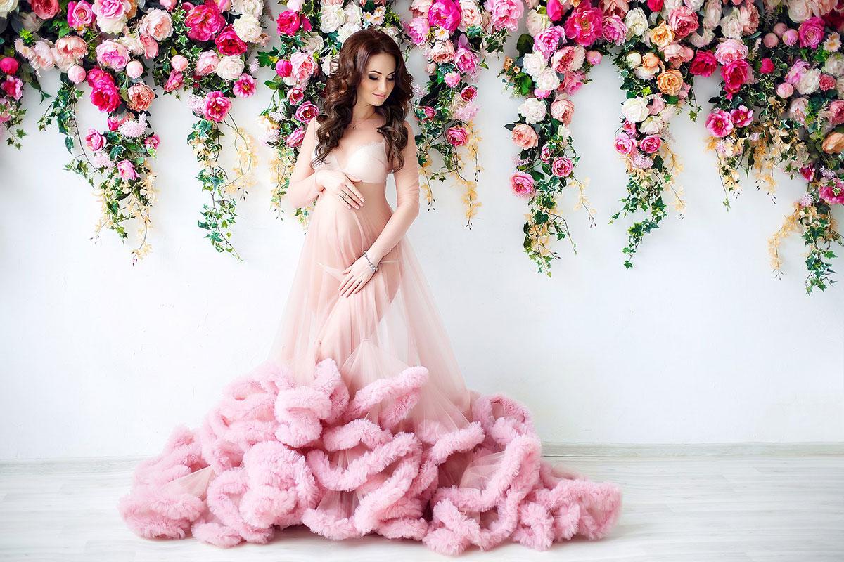 Прозрачное платье-облако