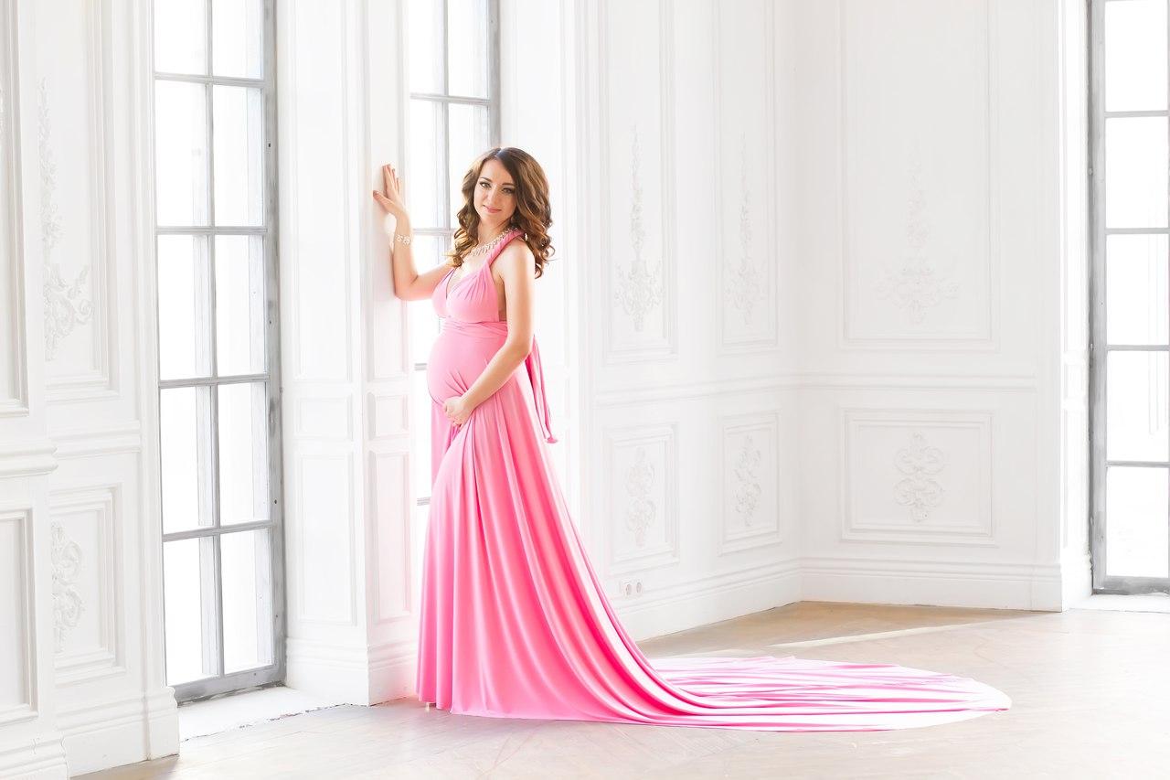 Платье-трансформер с длинным шлейфом