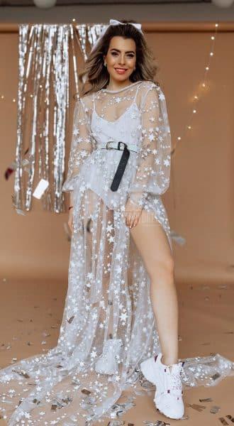 Эксклюзивное платье-пеньюар White Star
