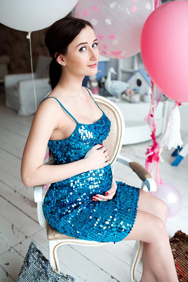 Фотосессия для беременных в платье
