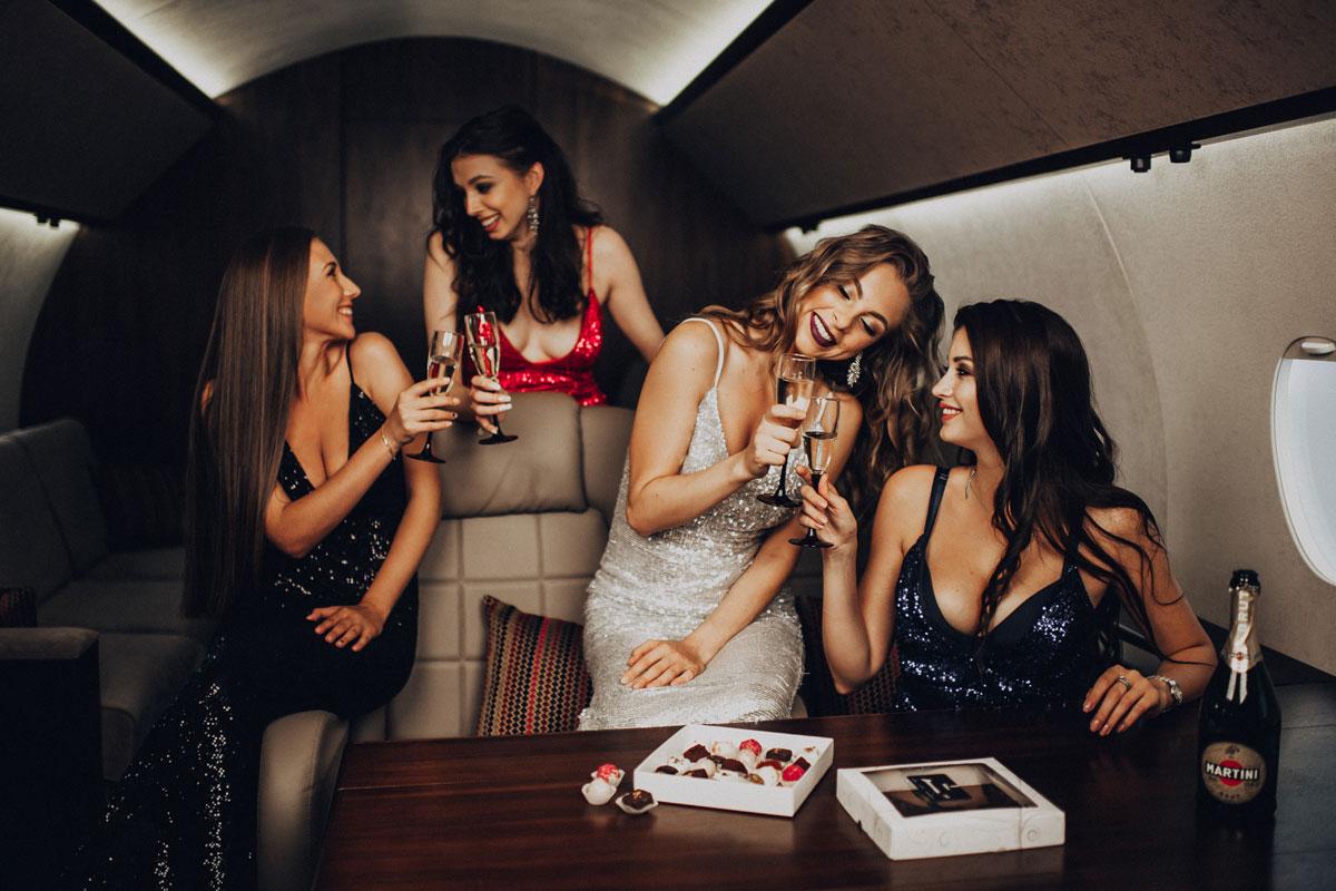 Фотосессия на борту самолета