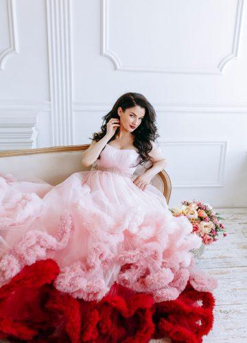 Платье облако трех цветов