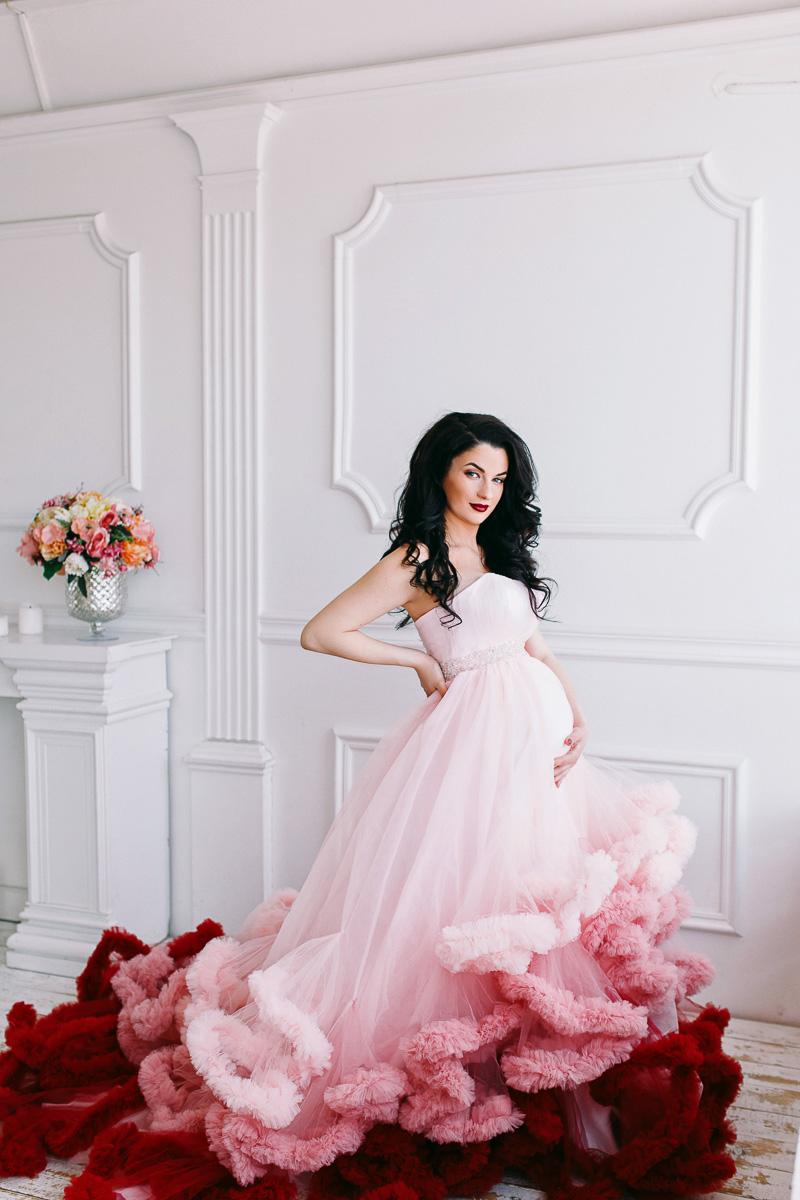 Платье со стильным эффектом омбре