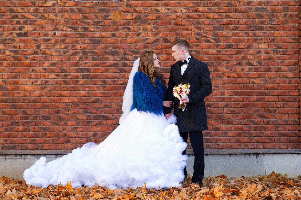Свадебное платье-облако в аренду