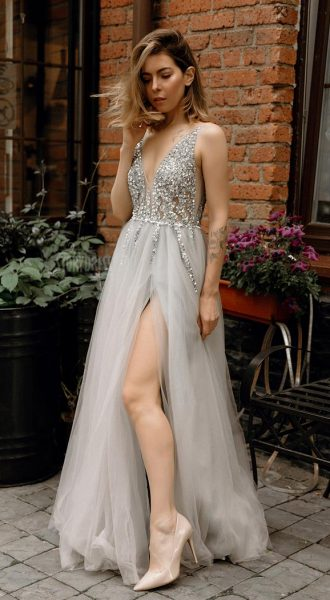 Пышное платье Love Me Gray
