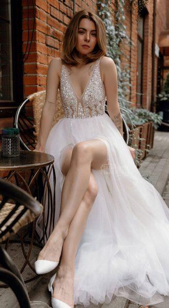 Пышное платье Love Me White