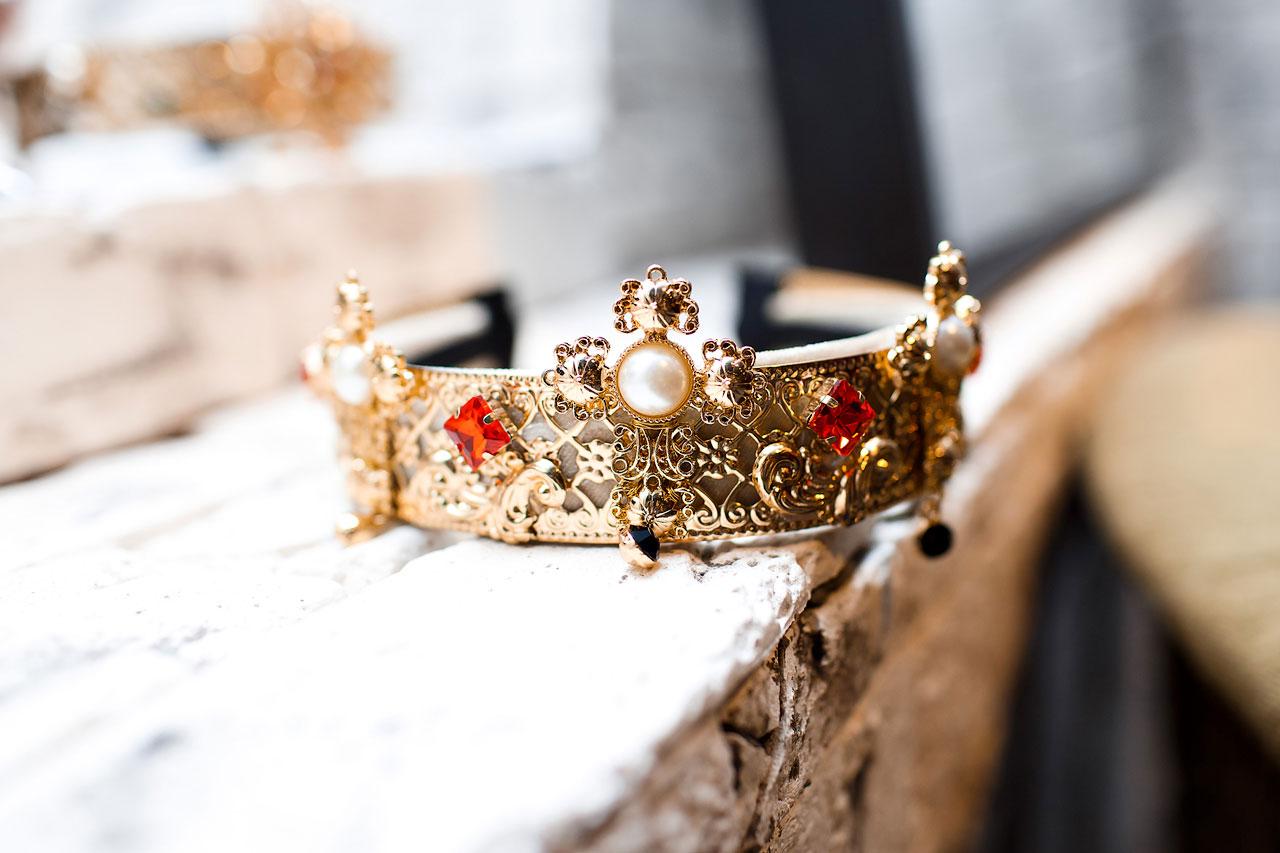 Корона с малыми крестами K-03
