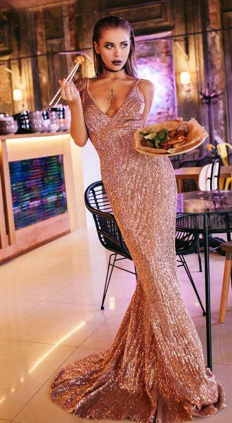 Вечернее платье Bronze Passion