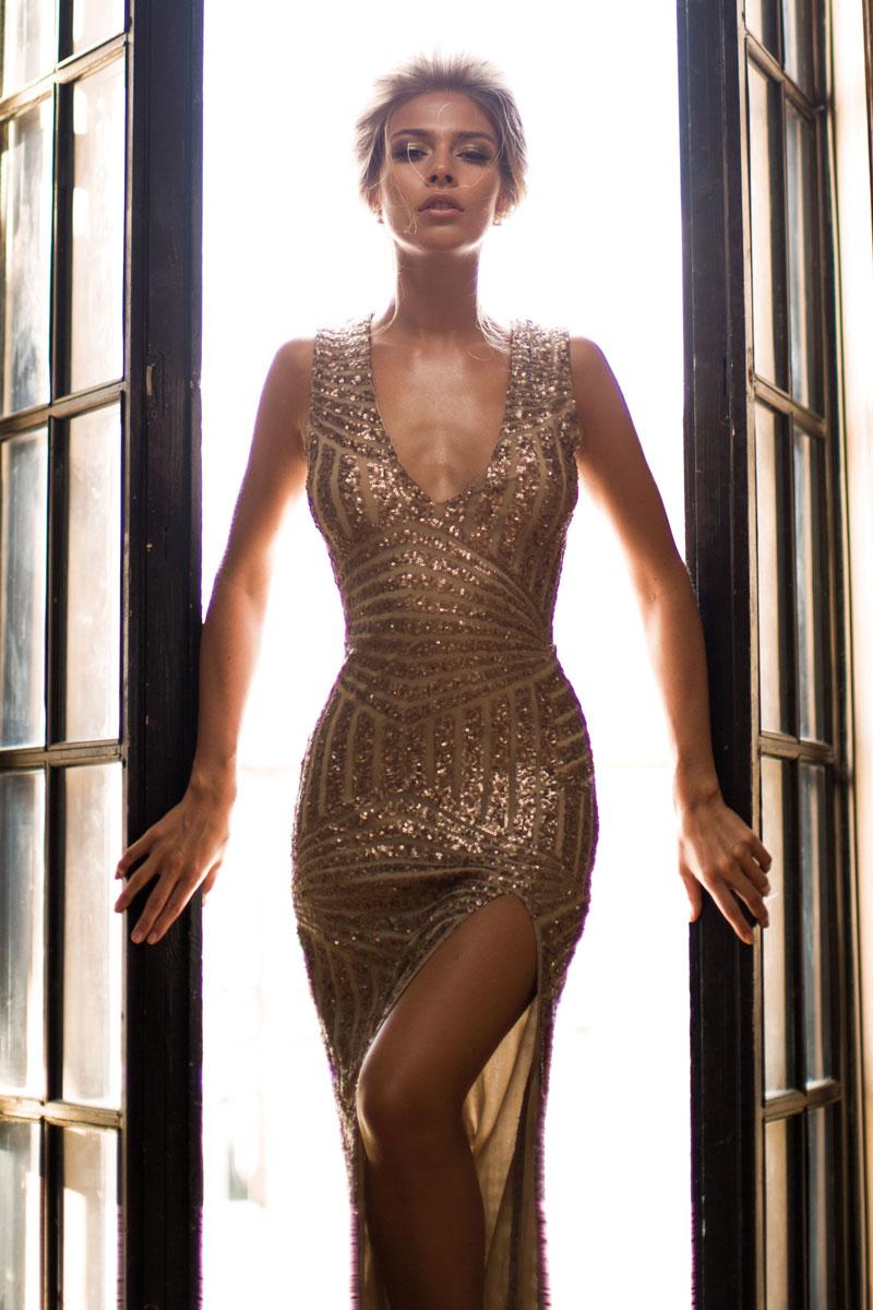Золотое платье в аренду