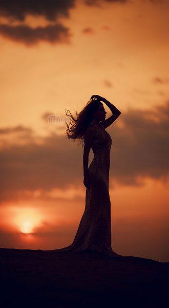 Фотосессия на фоне заката