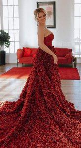 Пышное платье в аренду Gortenzia Garnet