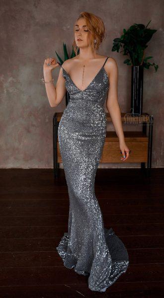 Пайеточное платье Graphite Passion