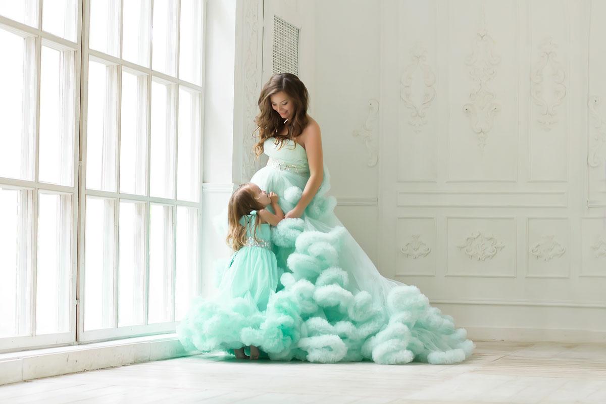 Платье для фотосессии мама и дочка