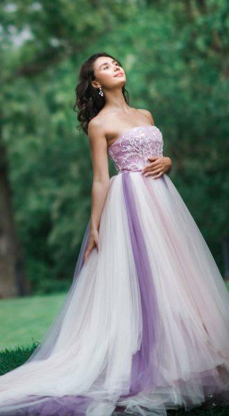 Лиловое платье с пышной юбкой Lilac Falls