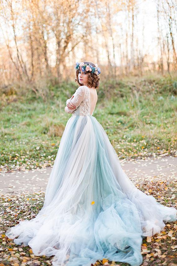Фотосессия осенью в парке в романтическом образе