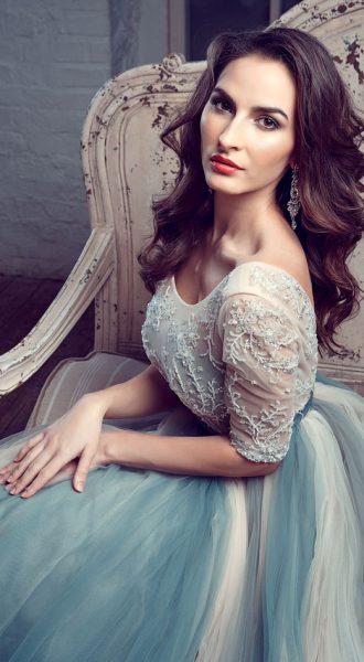 Фотосет в платье с эффектом деграде