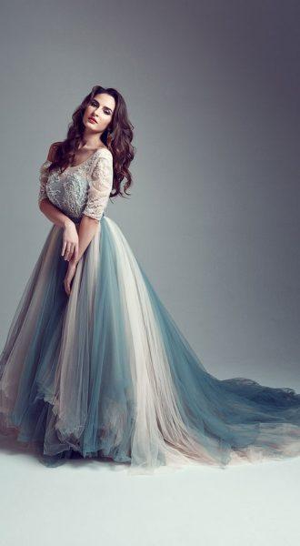 Пышное платье из сетки