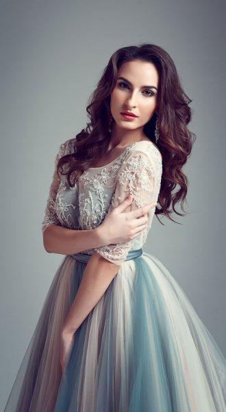 Пышное платье из сетки прокат